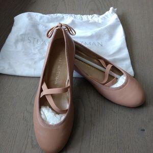 Stuart Weitzman NWOB Pink Nude Ballet Flats 5.5W